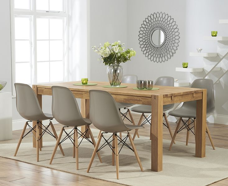 dining table and chairs wood table with eiffel chairs verona solid oak extending dining table with YCVHEUG