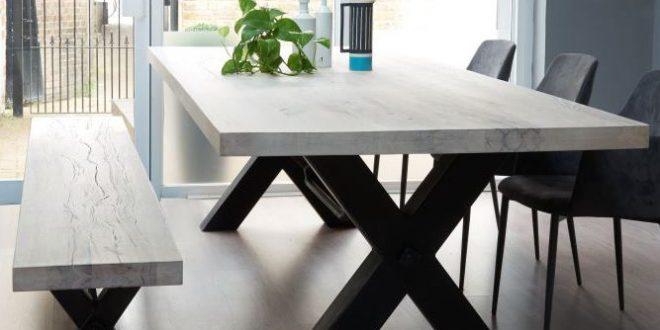 dinning table bolt solid wood u0026 metal dining table more TTBMEKX