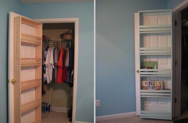 diy closet organizer - door shelf CDFIFAK