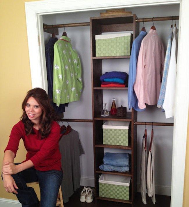 diy closet organizer - plywood UIZKTRS