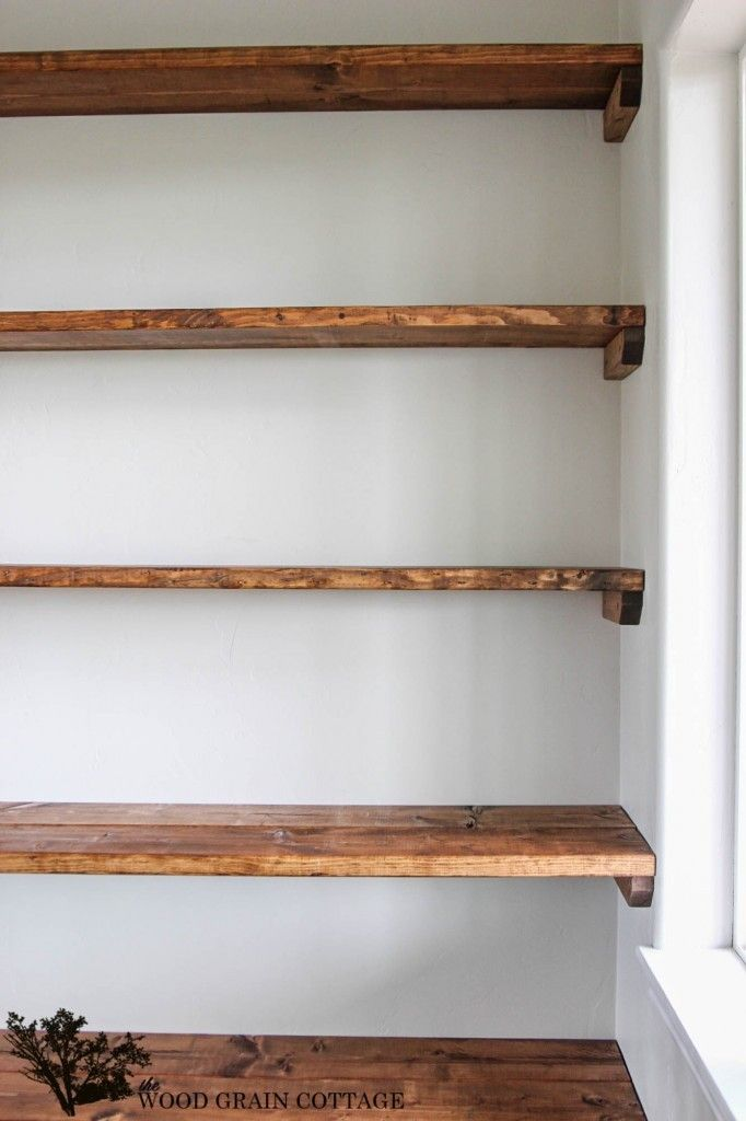diy shelves - 18 diy shelving ideas LKRSNOP
