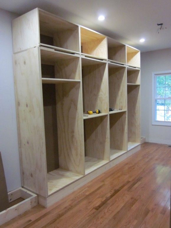 diy wardrobe built-in closet (also info on applying crown molding, etc. on this site) AWQPSFP