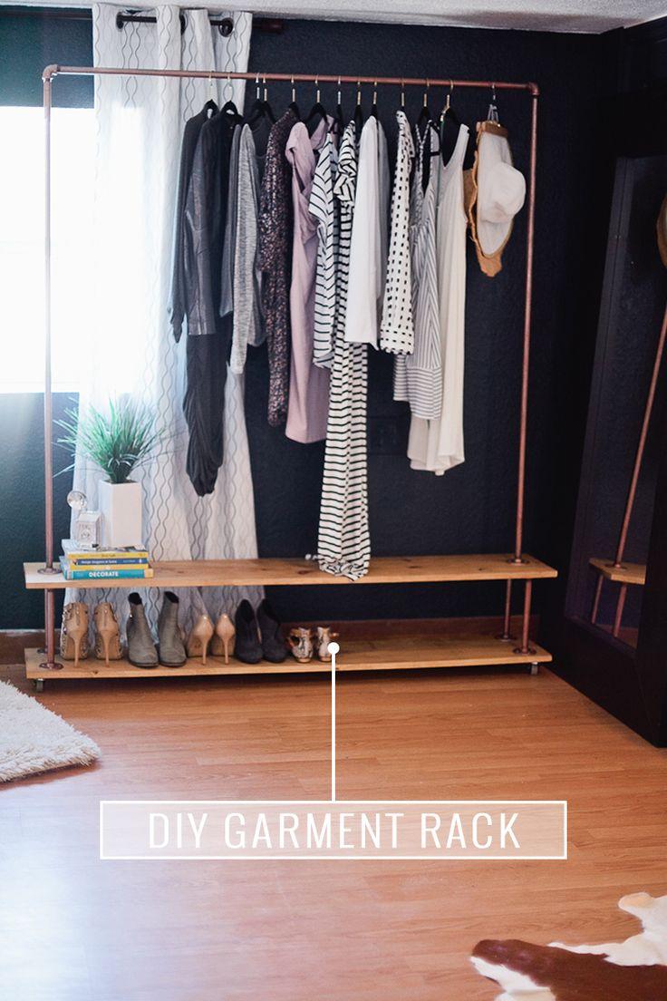 diy wardrobe rolling diy garment rack for your wardrobe GEFLLCJ