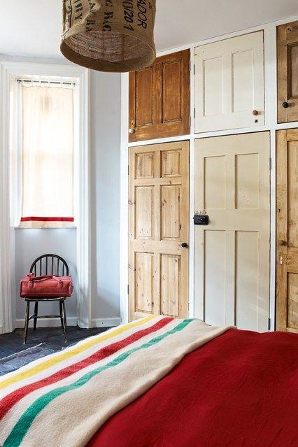 diy wardrobes bedroom cupboards from old doors XXJQNIH