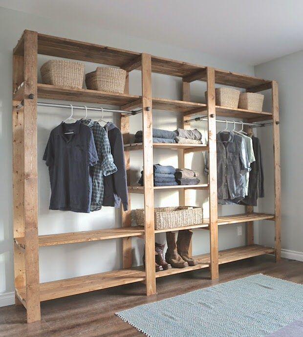 diy wardrobes-...... i like how simple this is, FCVBQJU