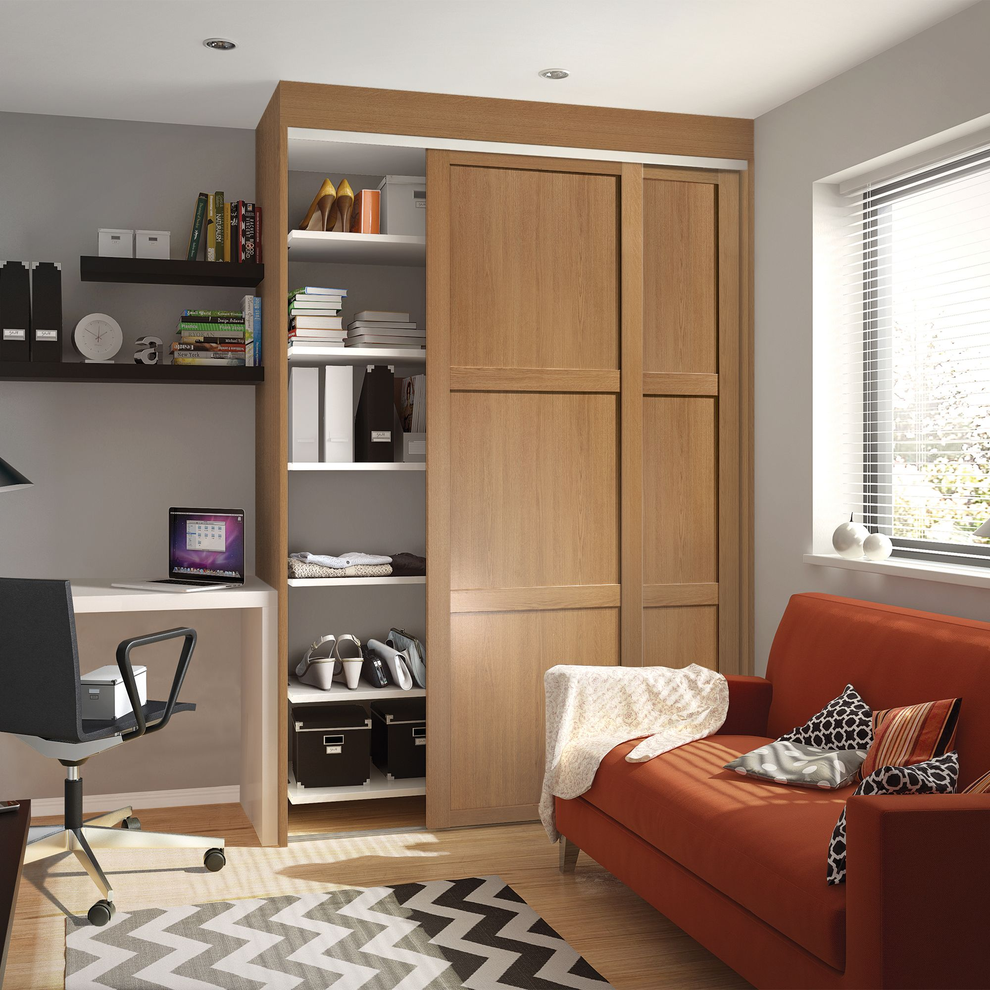 diy wardrobes shaker single doors AAYATRM