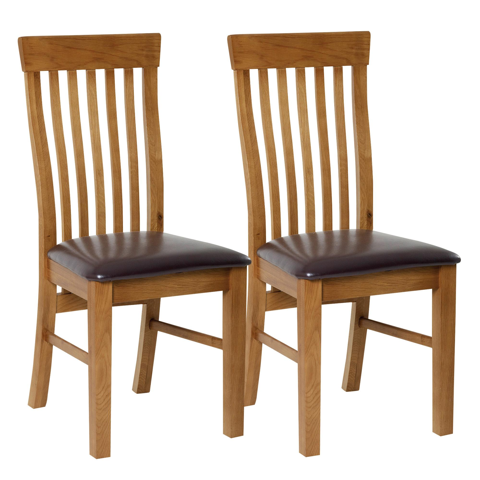 dorchester oak pair of dining chairs VGIQAPO