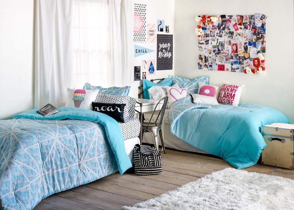 dorm room decorating ideas u0026 decor essentials | hgtv GILKXIN