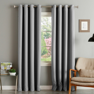drapes and curtains aurora home thermal insulated blackout grommet top curtain panel pair HJKZEBM