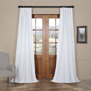 drapes and curtains faux silk taffeta solid blackout single curtain panel EPEMSWS