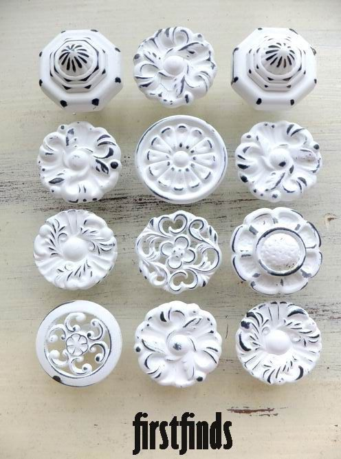 dresser knobs 12 misfit knobs shabby chic white kitchen reno cabinet pulls vintage pantry KRDVWDK