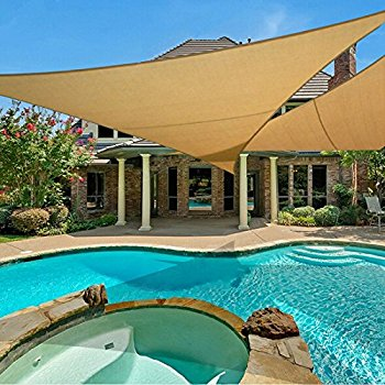 e.share 20u0027 x 20u0027 x 20u0027 sun shade sail uv top FLXUIAE