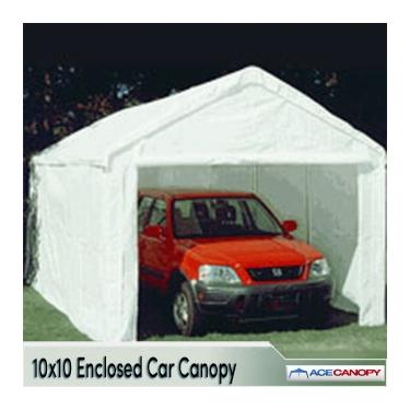 enclosed car canopy 10x10 ZDRMHNZ