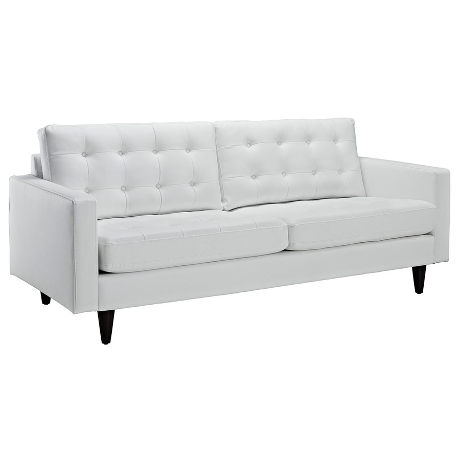 enfield modern white leather sofa WPKBMQN