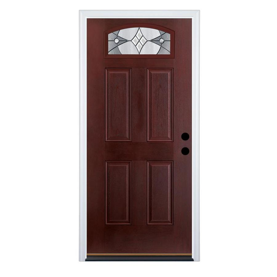 entry doors therma-tru benchmark doors delano 4-panel insulating core morelight  fiberglass stained prehung entry GTIYJOU