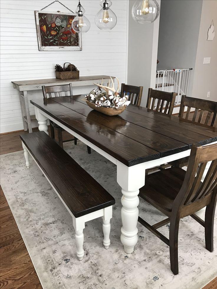farmhouse dining room table custom built, solid wood modern farmhouse dining furniture. 7u0027 l x 37 KADNEAF