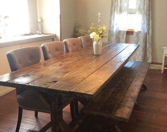 Attractive Farmhouse Dining Room Table Farmhouse Table, Farm Table, Long Farmhouse  Table, Rustic Table