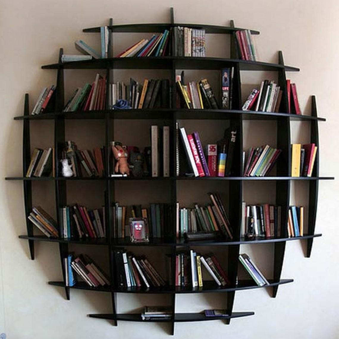 fascinating unique wall bookshelves photo ideas ... AQKJVXE