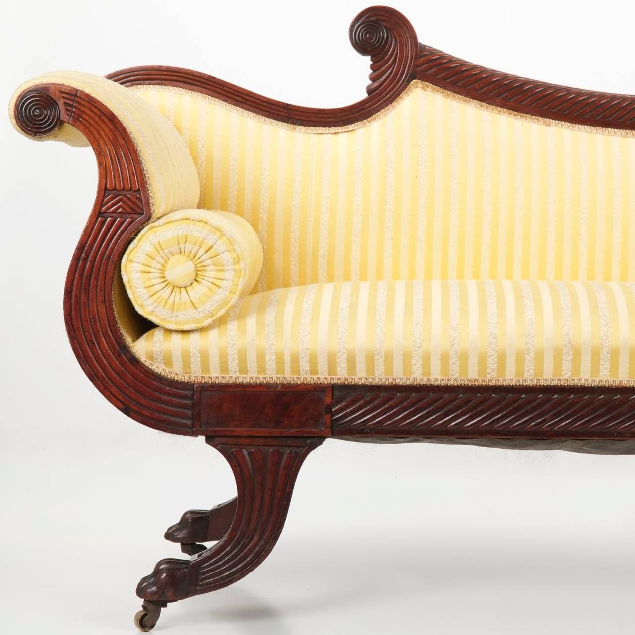 fine english william iv mahogany antique sofa, circa 1830-1850 3 ZNBIDOH