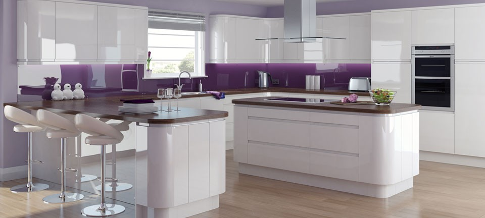fitted kitchen modern fitted kitchens - fusion gloss white by english rose kitchens ... OGRBZNL