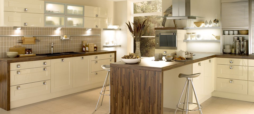 fitted kitchen ... shaker fitted kitchens - gloss stone by english rose kitchens ... VWDEILY