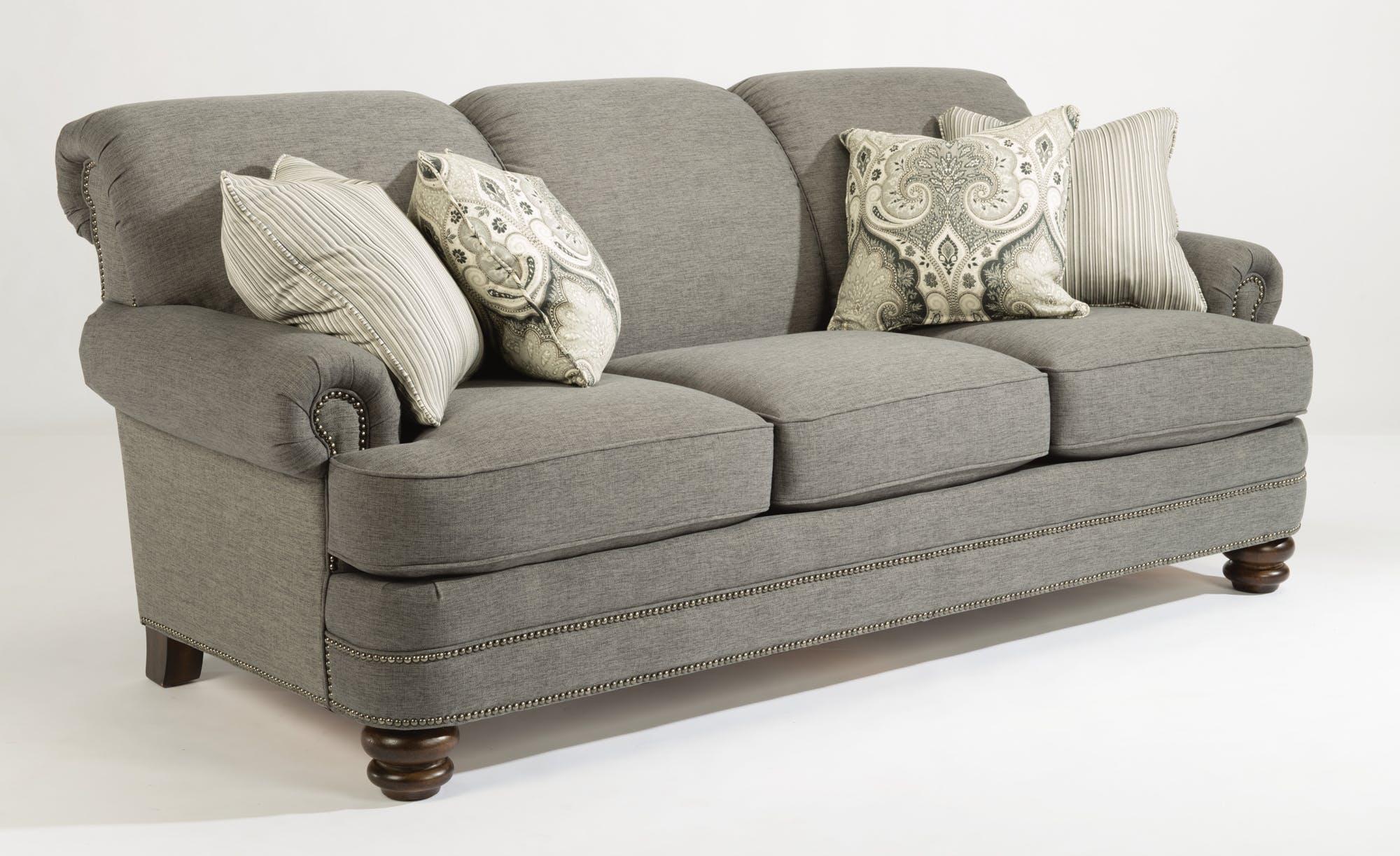 flexsteel sofas flexsteel sofa with pillows 657955 FFLWAFT