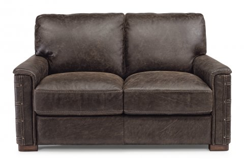 flexsteel sofas leather loveseat EIKMBGQ