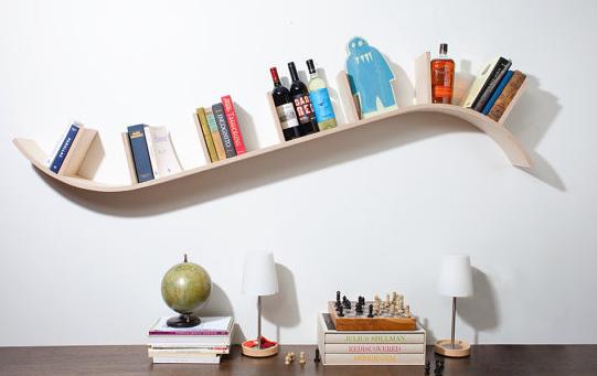 floating bookshelves #1: curved bookshelf by perfekte velle NTNNMKS