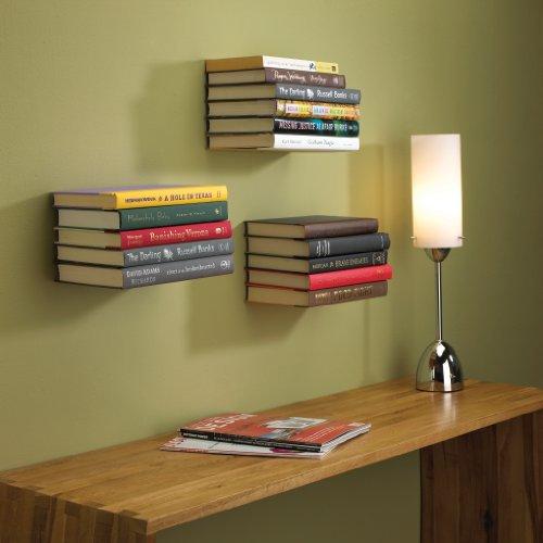 floating bookshelves amazon.com: umbra conceal floating bookshelf, large, silver: home u0026 kitchen SCKNLKX