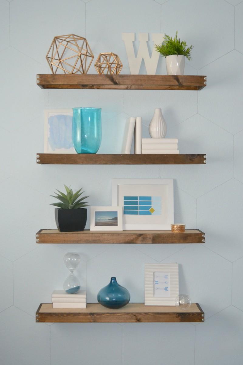 floating bookshelves diy rustic modern floating shelves FSHWLRB