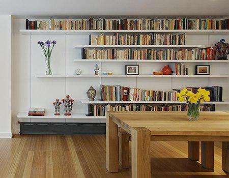 floating bookshelves i like the irregular shelves - practical not only for flower vases but HLYNWQC