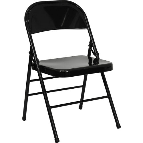 folding chairs hercules hinged metal folding chair, set of 4, black UABSHMV