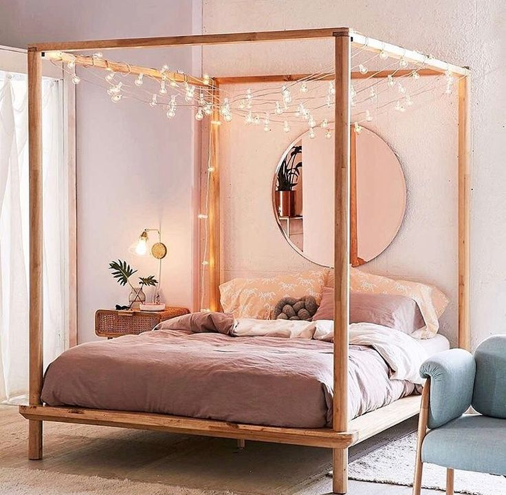 four poster bed shop eva wooden canopy bed at urban outfitters today. we carry all the CQXTWTR