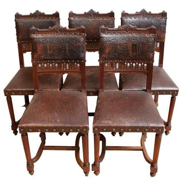 french antique dining chairs - set of 5 AJETNDG