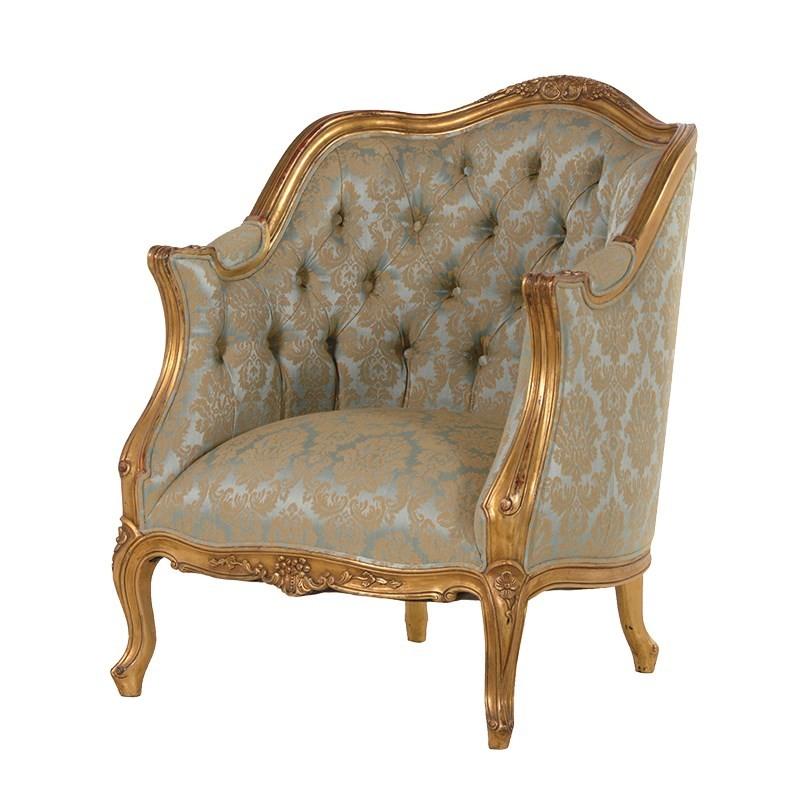 french furniture versailles green / gold french armchair VFTOPDZ