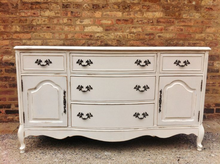 french provincial furniture vintage french provincial buffet in heavy cream by minthome ZSQQMHH
