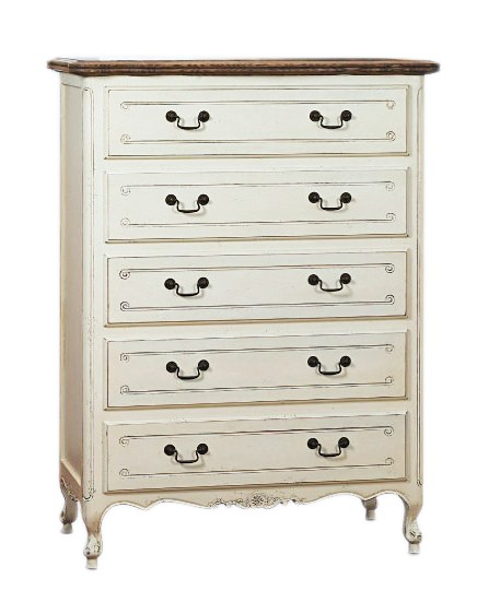 french provincial furniture white 5 drawer chest WNVNWEO