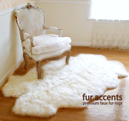 fur rugs 3x5 thick white faux fur sheepskin rug quatro new KQHBDFQ