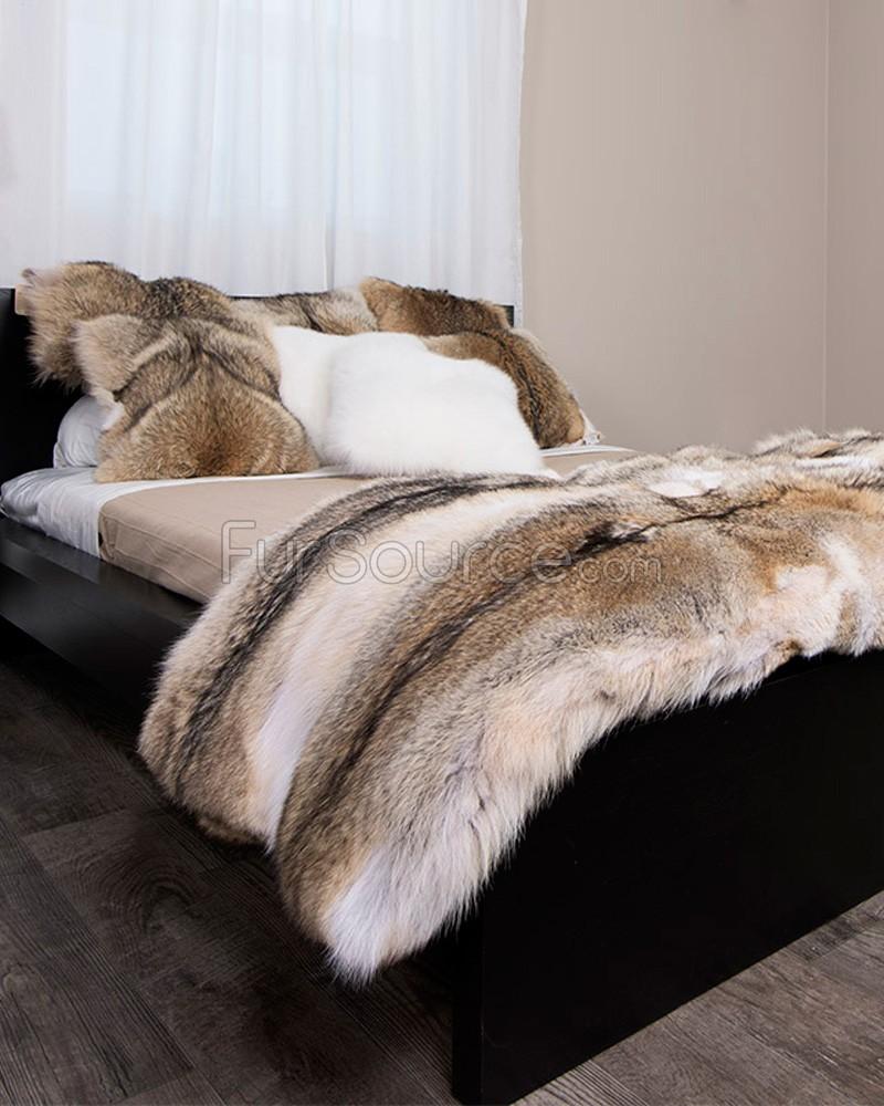 fur rugs coyote rug BBCTDGZ