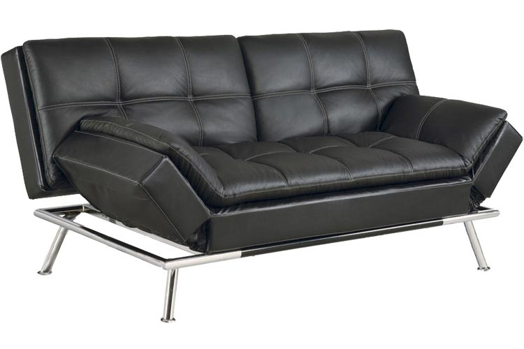 futon sofa beds matrix_modern_convertible_futon_sofa_bed_sleeper_black  matrix_modern_convertible_futon_sofa_bed_sleeper_black_lrg matrix pillowtop  bonded leather sofa bed ... DVWBXZK