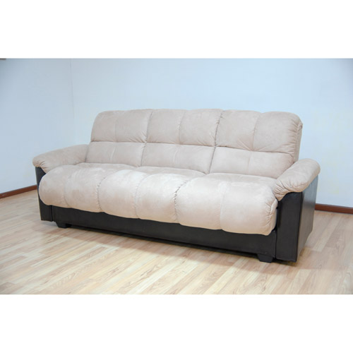 futon sofa best choice products home furniture convertible microfiber pillow top futon  sofa, black HNUXRRA