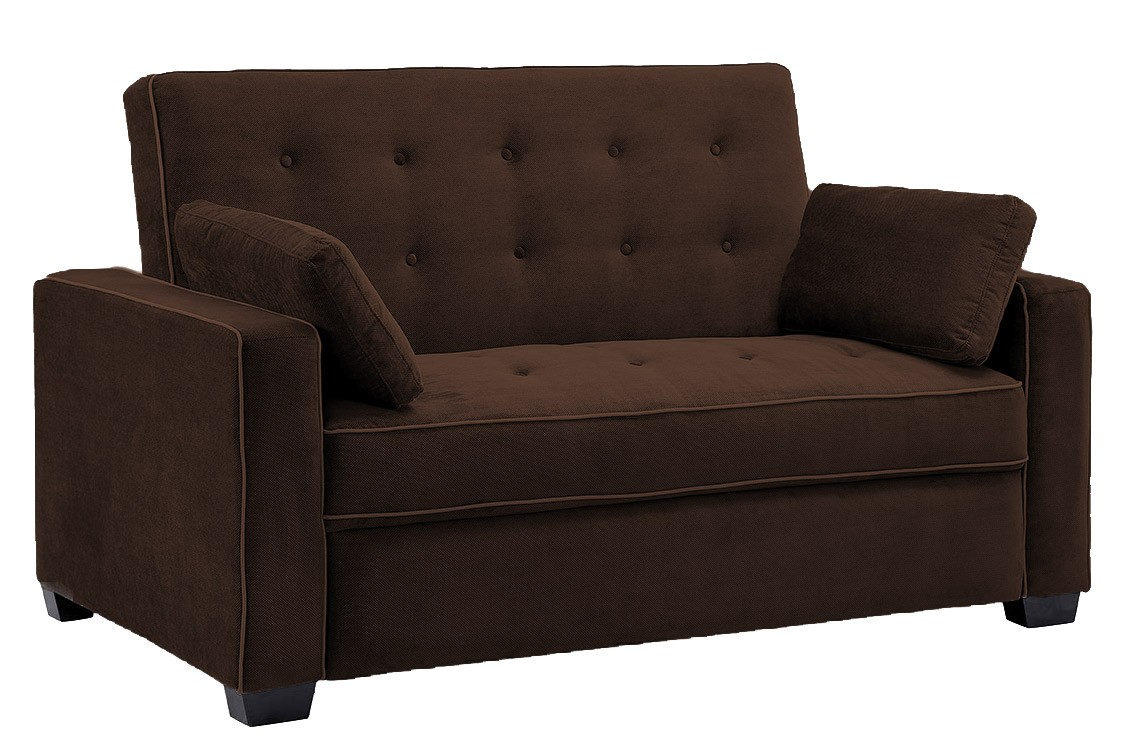 futon sofa jacksonville_modern_convertible_futon_sofa_bed_sleeper_chocolate brown sofa  bed futon couch ... DSXJPXS