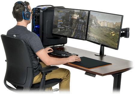best gaming ground high for stands tv desk of gamers computer desks