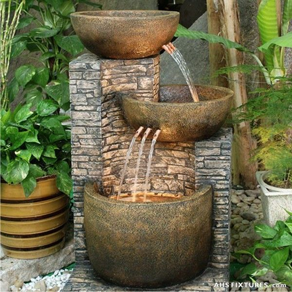 Garden Fountains Need Some Inspiration For Beautiful Garden Fountain Ideas?  Here Is Your Window GSYXVBC