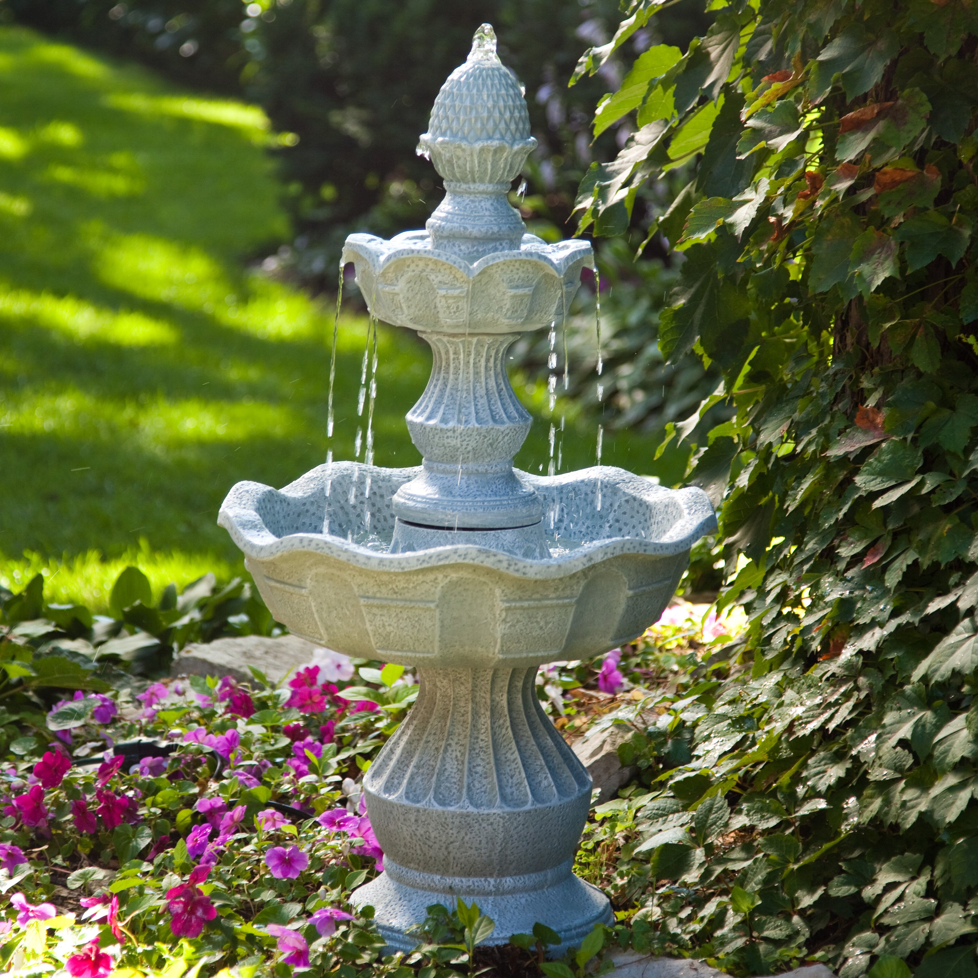 garden fountains welcome garden pineapple tiered outdoor fountain | hayneedle NXLIPEO