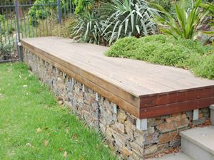 garden seats gabions for garden seat - could be done around raise beds for easy VJLSNRR