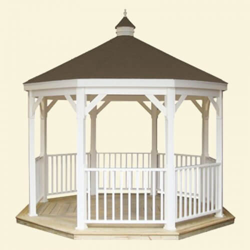 gazebo kits 12 foot vinyl gazebo-in-a-box XFDKWSB