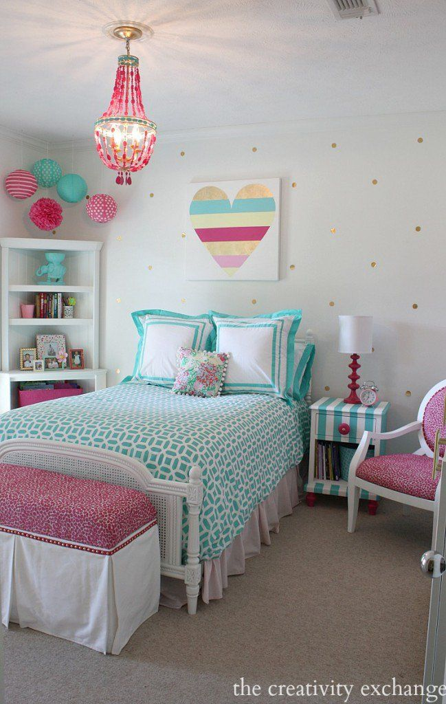 girls bedroom decor bright and bold girlu0027s bedroom. a lot of fun diy projects. the creativity OLEYQED