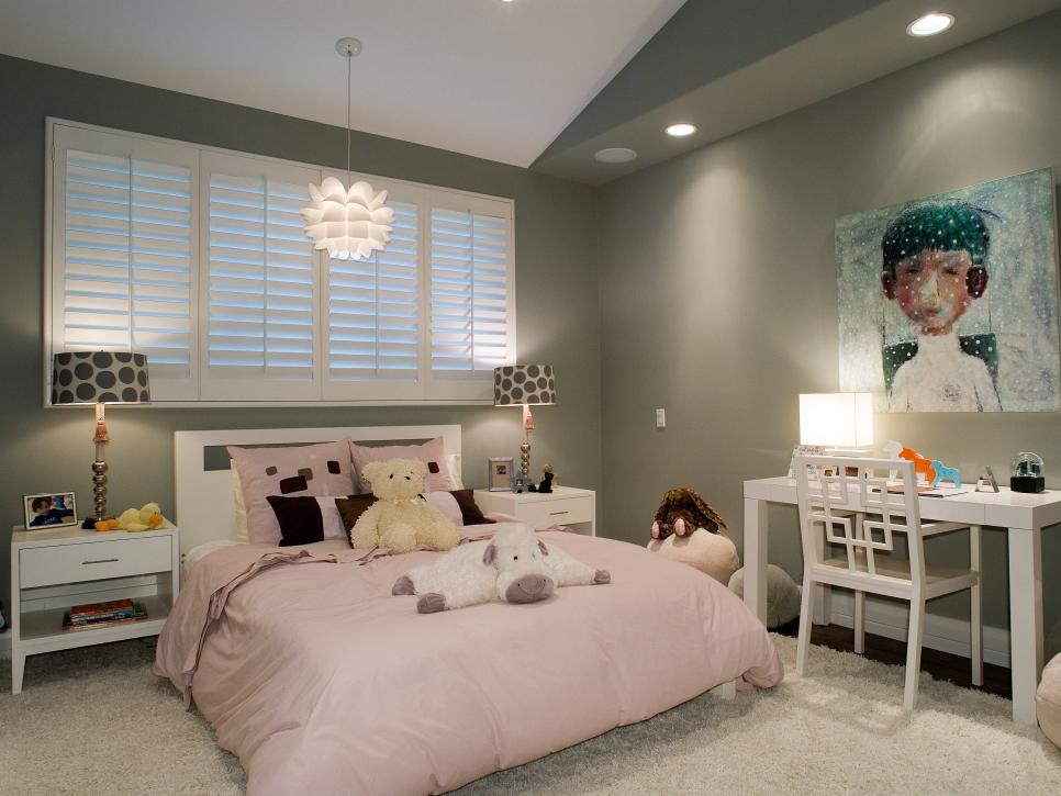 girls bedroom decor kids bedroom ideas | hgtv MIPQIWK