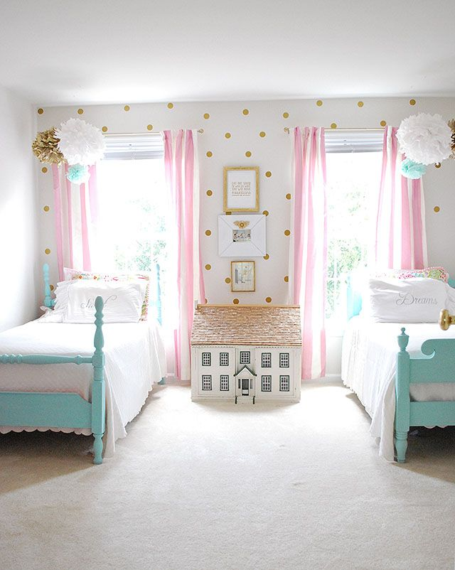 girls bedrooms gorgeous little girls bedroom. i love the polka-dots! RHDKBFU